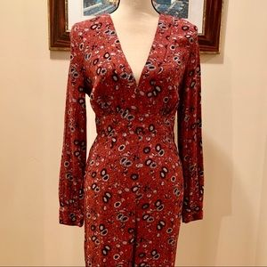 NWT Free People Some Like It Hot Floral Jumpsuit